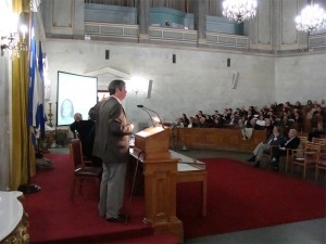 Maurice Presenting at the Old Parliament Building Athens